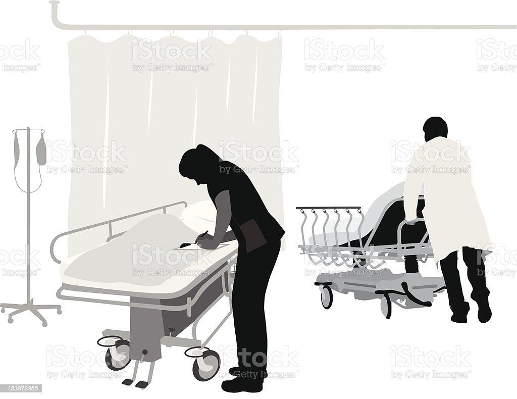 Hospital Duties vector art illustration