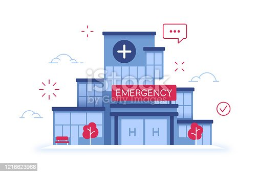 istock Hospital Emergency Room Medical Healthcare Facility Building 1216623966