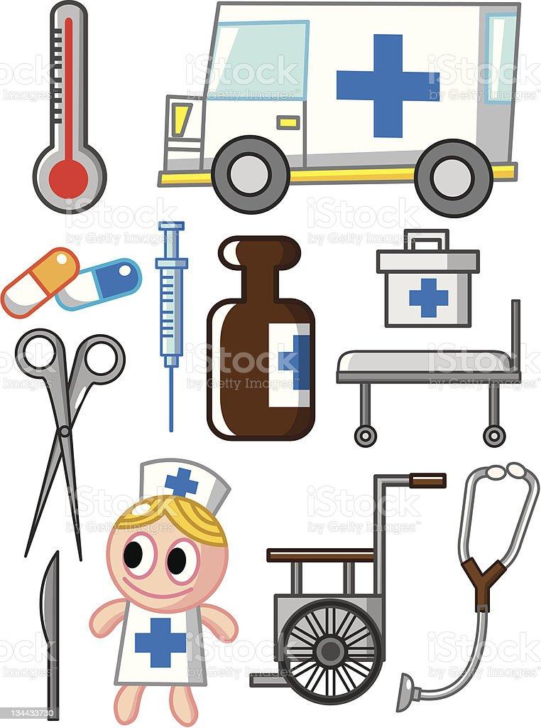 Hospital Equipment royalty-free stock vector art