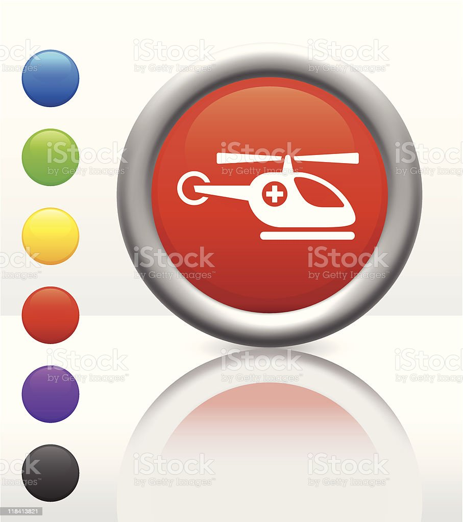 hospital helicopter icon on internet button royalty-free stock vector art