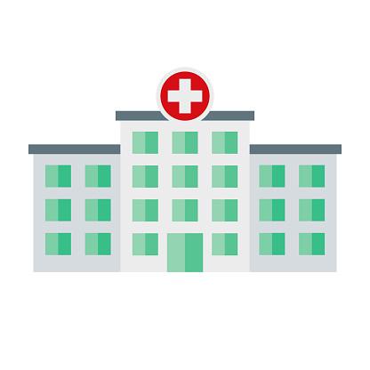 Hospital Icon on Transparent Background