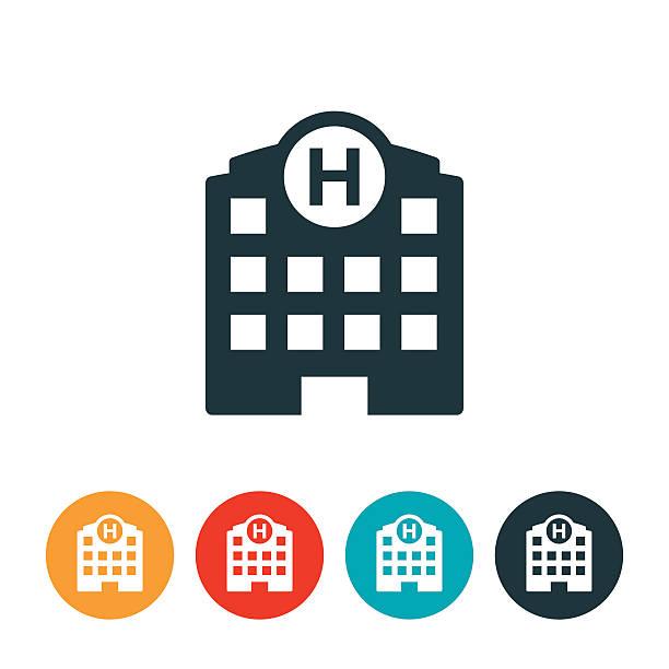 illustrazioni stock, clip art, cartoni animati e icone di tendenza di icona ospedale - ospedale