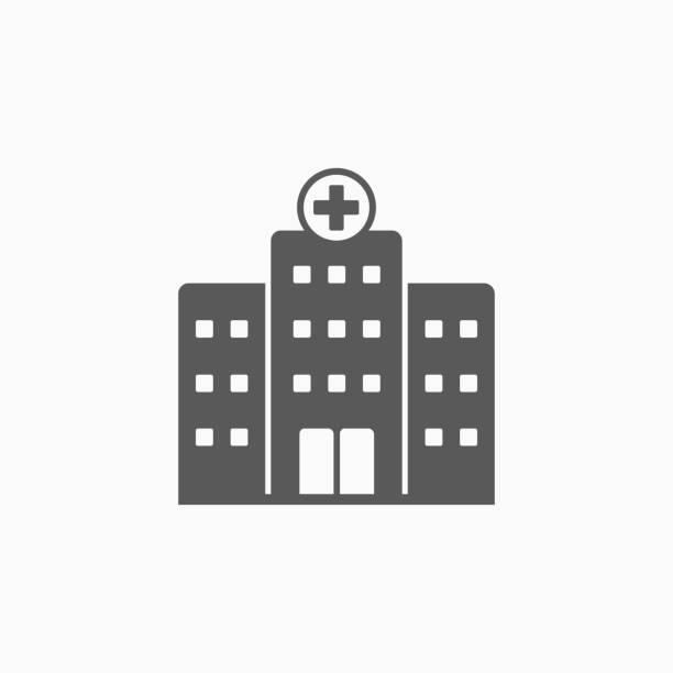 Krankenhaus-Symbol – Vektorgrafik