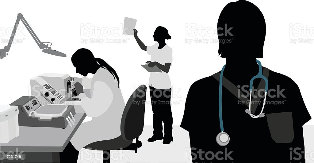 Hospital Jobs vector art illustration