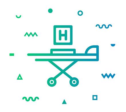 Hospital Line Style Icon Design