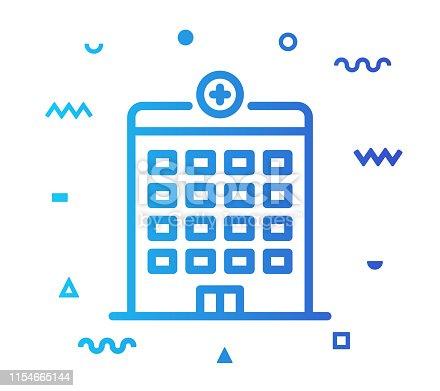 istock Hospital Line Style Icon Design 1154665144