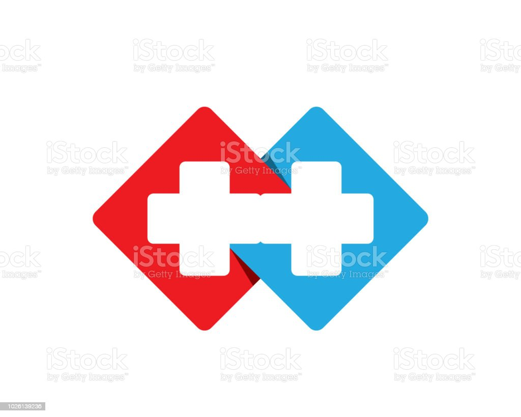 Hospital Logo And Symbols Template Icons Vector Health Stock Vector