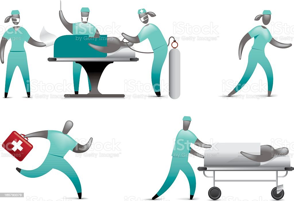 Hospital Medical Staff vector art illustration