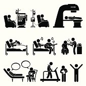 Hospital Medical Therapy Treatment Cliparts
