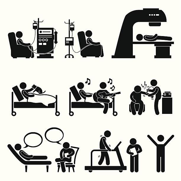 krankenhaus medizinische therapie behandlung cliparts - chemotherapie stock-grafiken, -clipart, -cartoons und -symbole