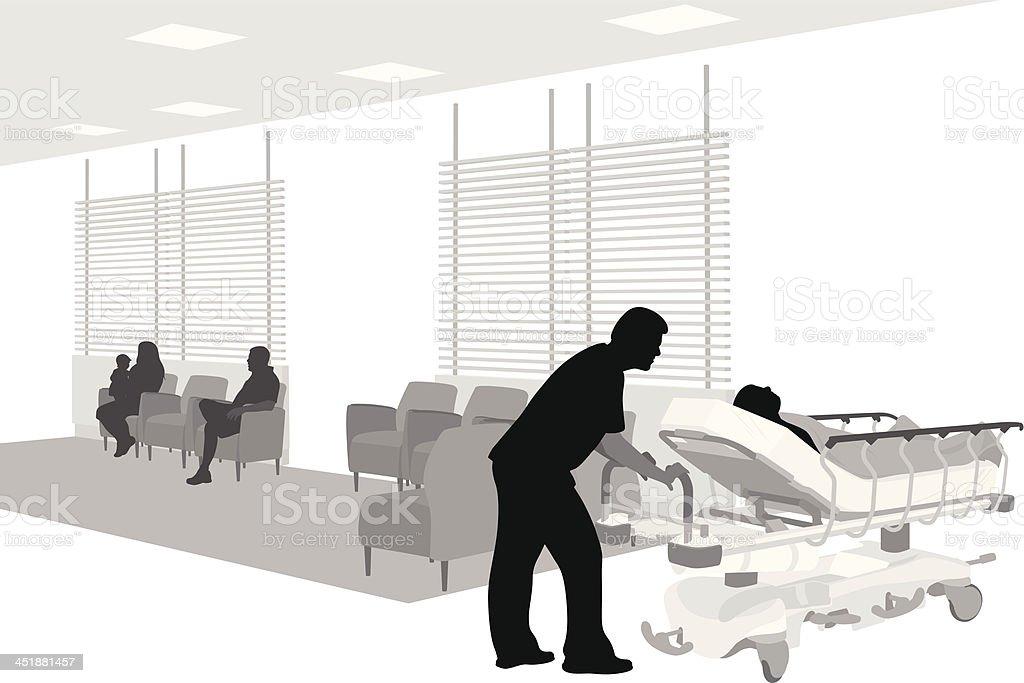 Hospital Patient vector art illustration