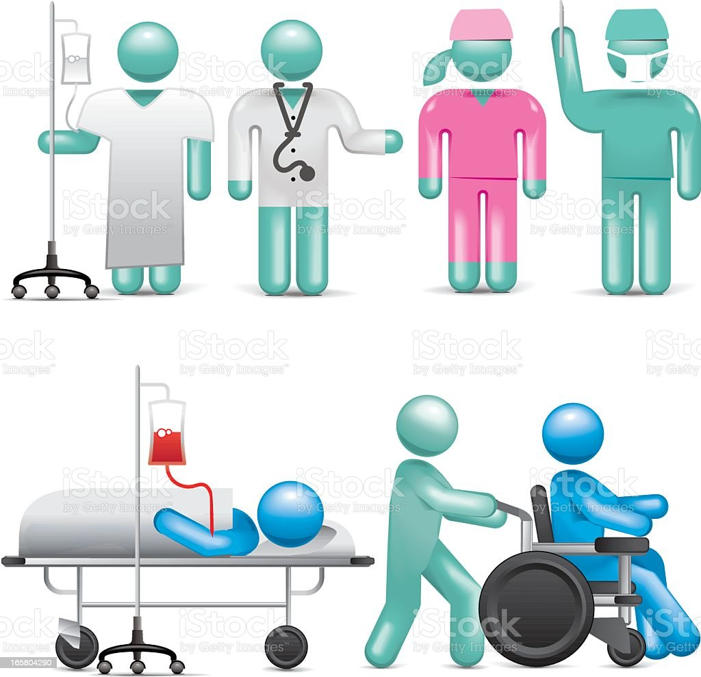 Hospital People royalty-free hospital people stock vector art & more images of abstract