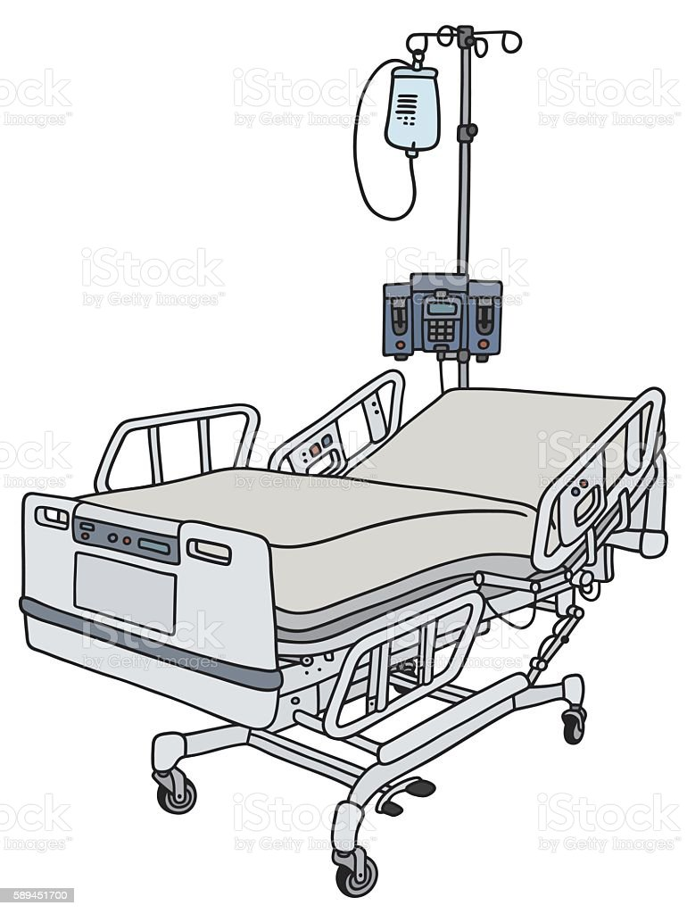 Hospital Position Bed Stock Illustration   Download Image Now