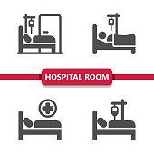 istock Hospital Room Icons 1225816699