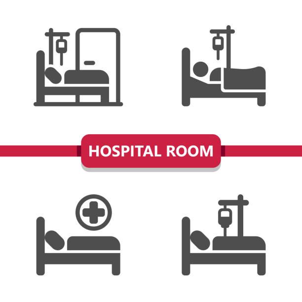 bildbanksillustrationer, clip art samt tecknat material och ikoner med ikoner för sjukhusrum - sjukhusavdelning
