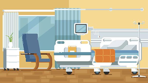 bildbanksillustrationer, clip art samt tecknat material och ikoner med hospital room illustrations - sjukhusavdelning