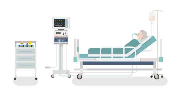hastane odası - bed stock illustrations