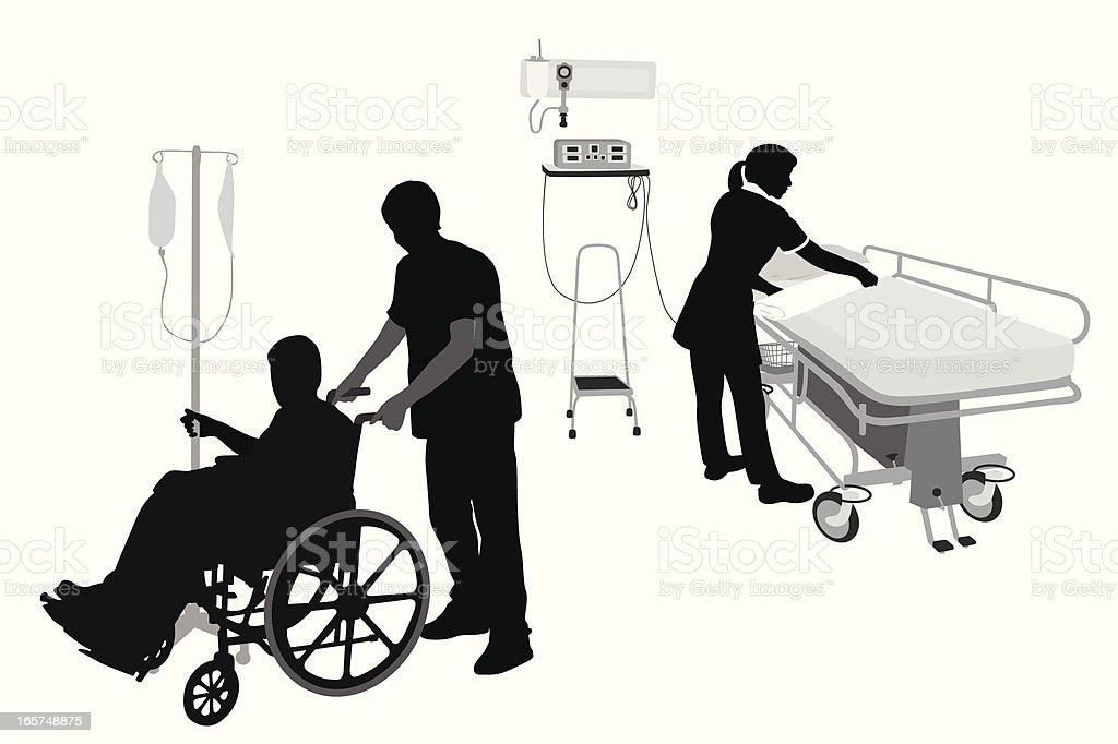 Hospital Services Vector Silhouette vector art illustration