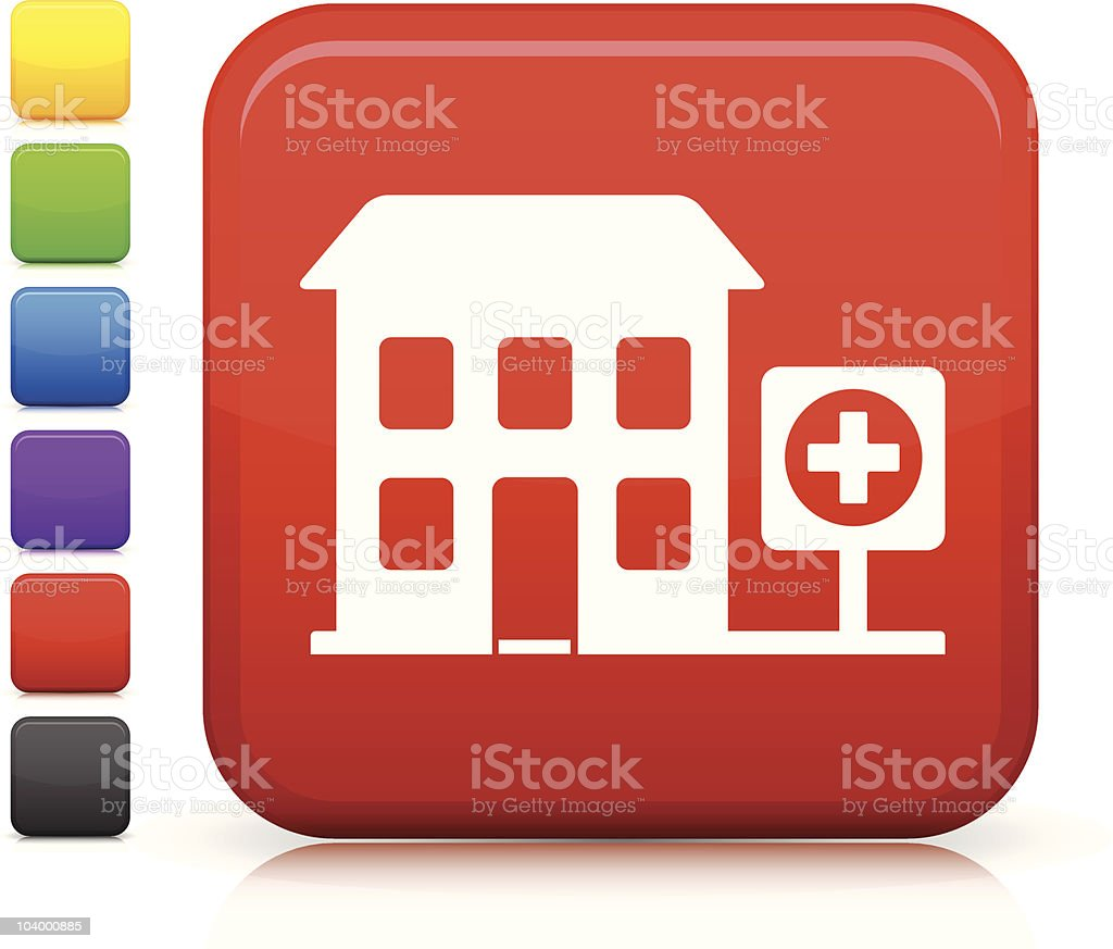 hospital square icon royalty-free hospital square icon stock vector art & more images of black color