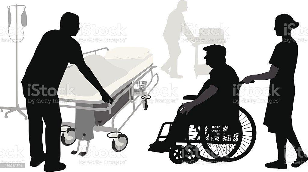 Hospital Stay vector art illustration