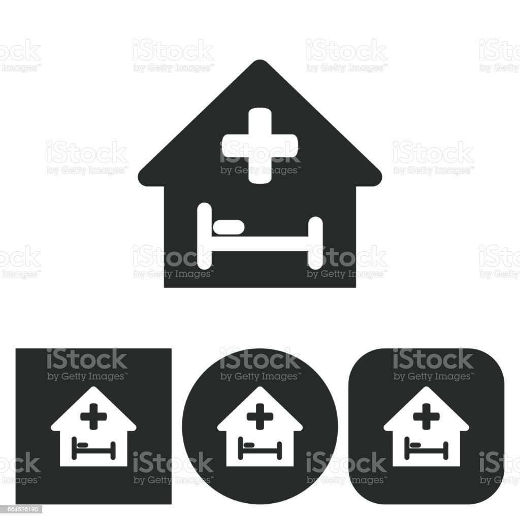 Hospital - vector icon. royalty-free hospital vector icon stock vector art & more images of ambulance