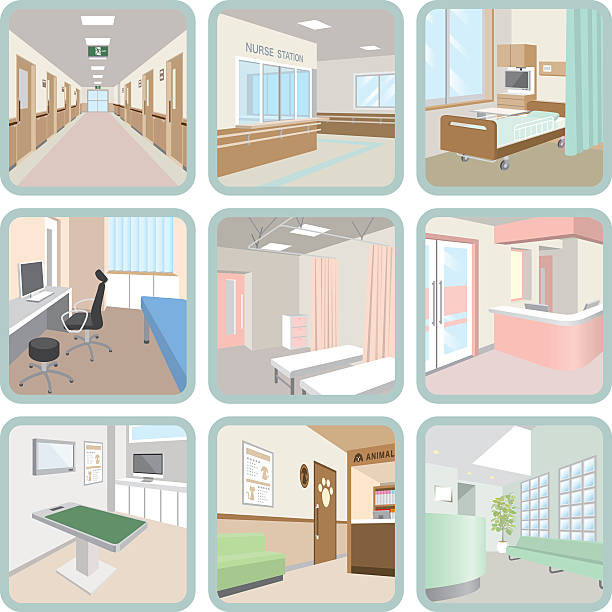 hospital - doctors office stock illustrations, clip art, cartoons, & icons