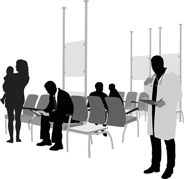 病院の待合室や患者 - 診察室点のイラスト素材/クリップアート素材/マンガ素材/アイコン素材