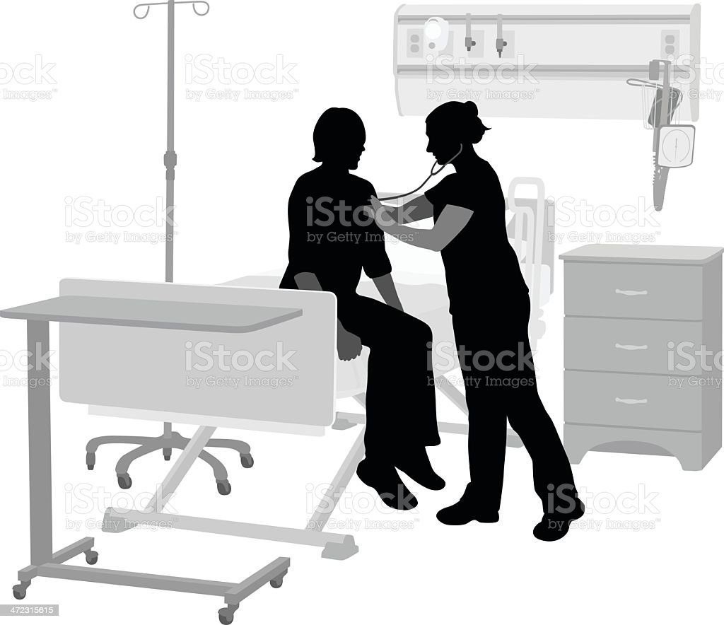 Hospital Ward vector art illustration