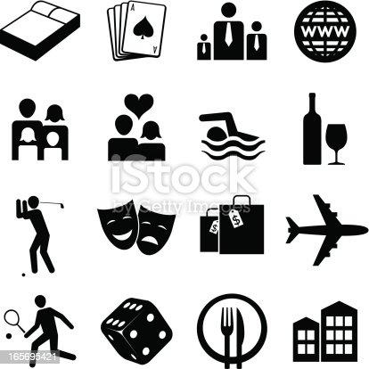 Various basic hospitality icons.