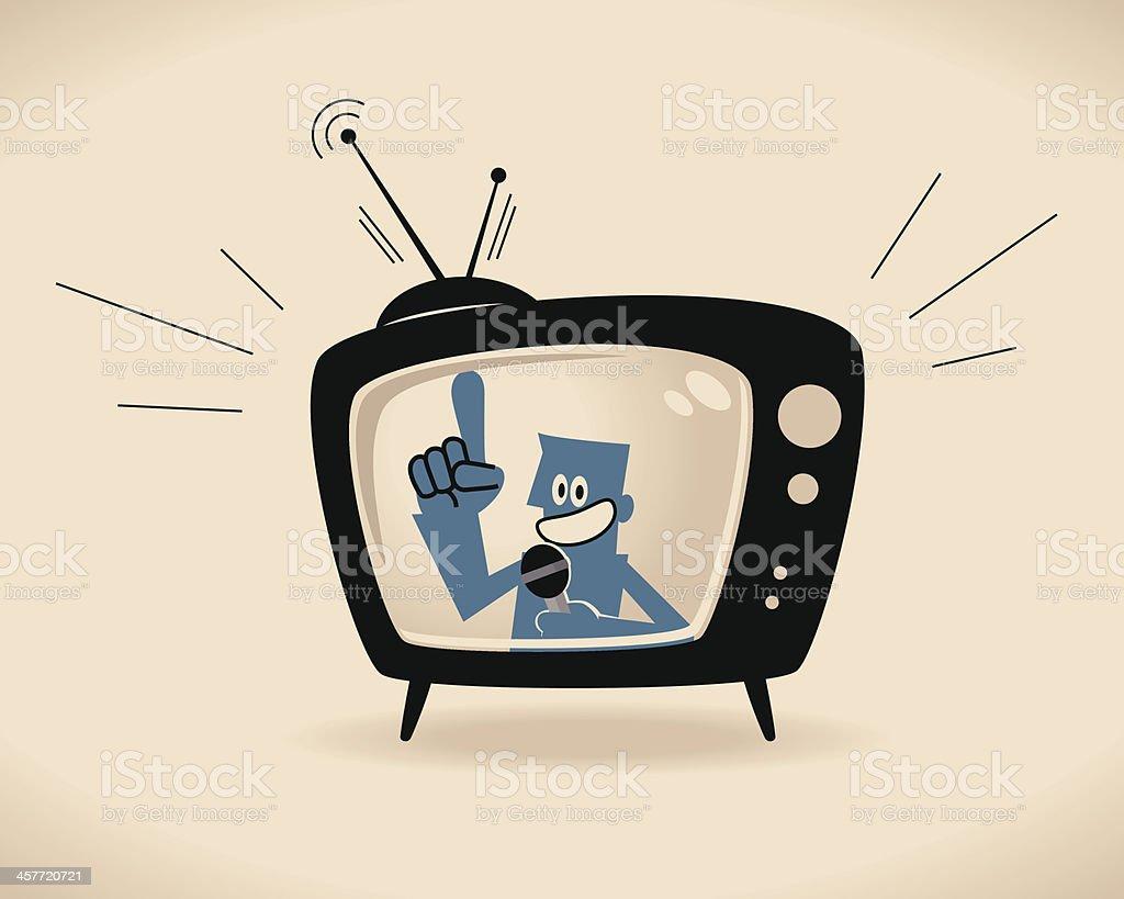 TV Host Vector illustration – TV Host. Adult stock vector