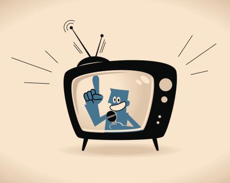 Vector illustration – TV Host.