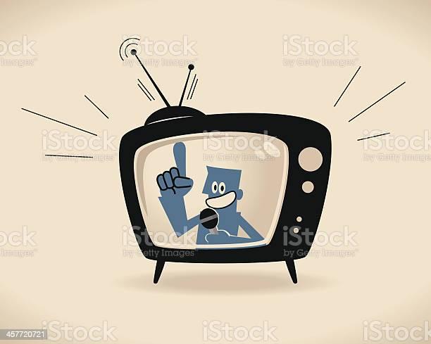Tv Host Stock Illustration - Download Image Now