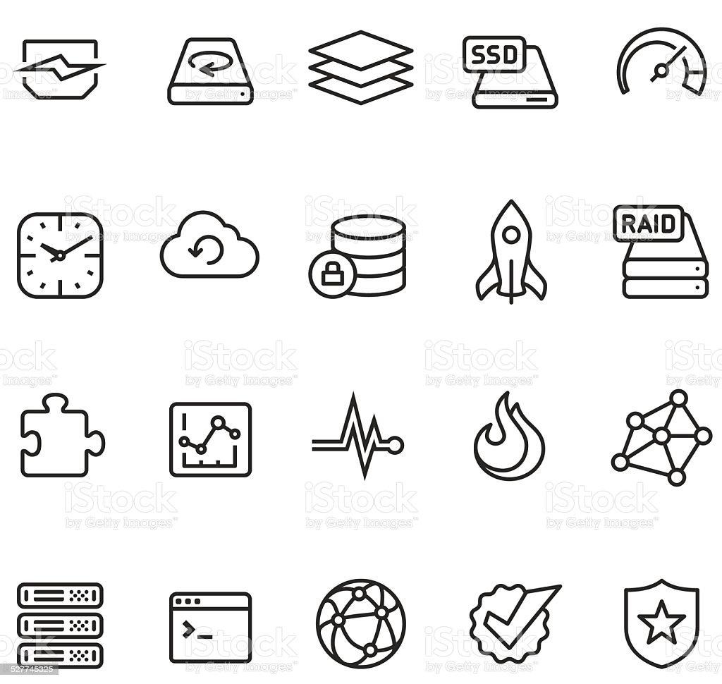 Hosting and storage icon vector art illustration