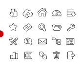 FTP & Hosting Icons// Red Point Series