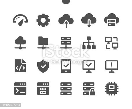 Hosting UI Pixel Perfect Well-crafted Vector Solid Icons 48x48 Ready for 24x24 Grid for Web Graphics and Apps. Simple Minimal Pictogram