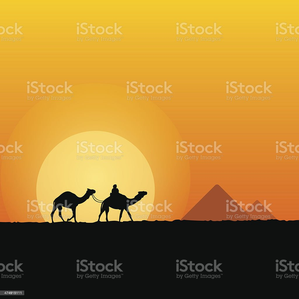Hot African Scenery vector art illustration