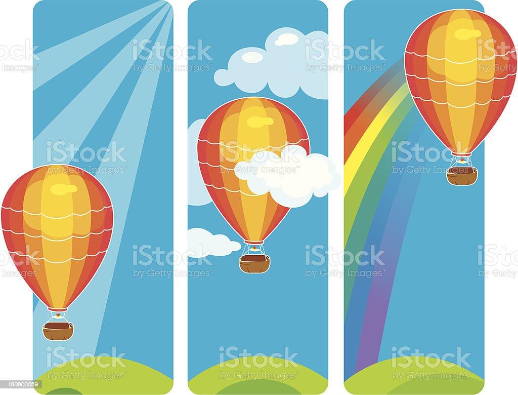 Hot air balloon banners royalty-free stock vector art