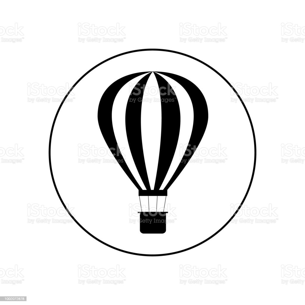 Hot Un Stock >> Hot Air Balloon Icon Stock Illustration Download Image Now