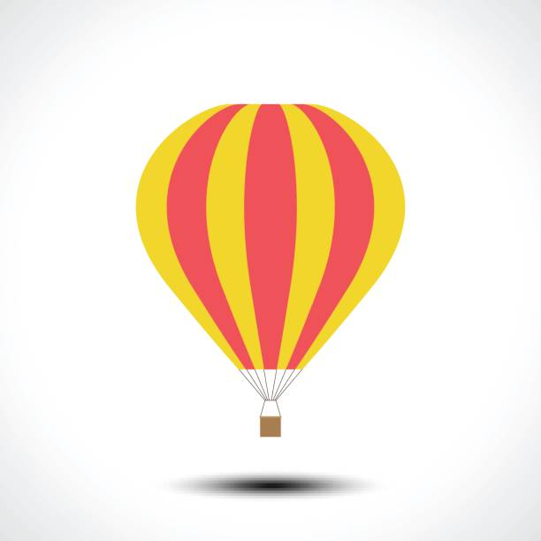hot air balloon icon - hot air balloon stock illustrations
