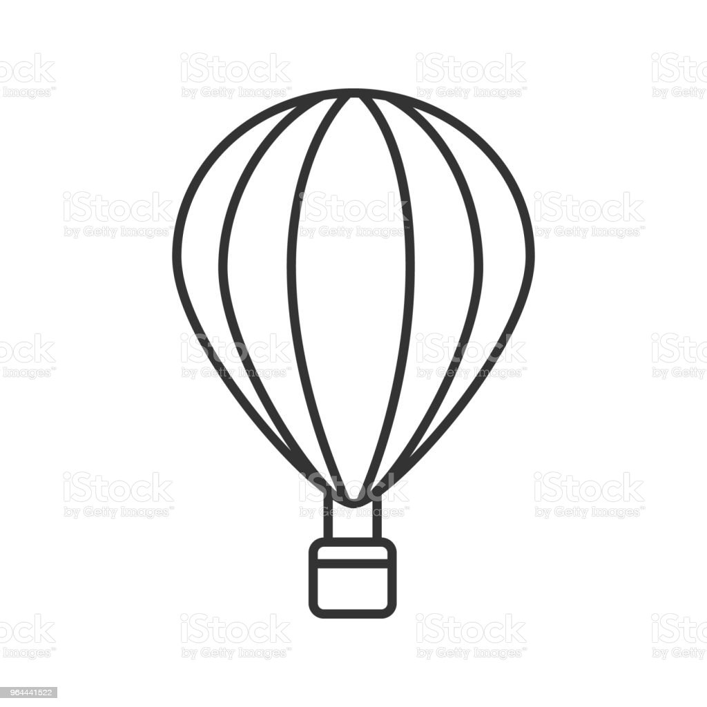 Hete lucht ballon pictogram - Royalty-free Aerostaat vectorkunst