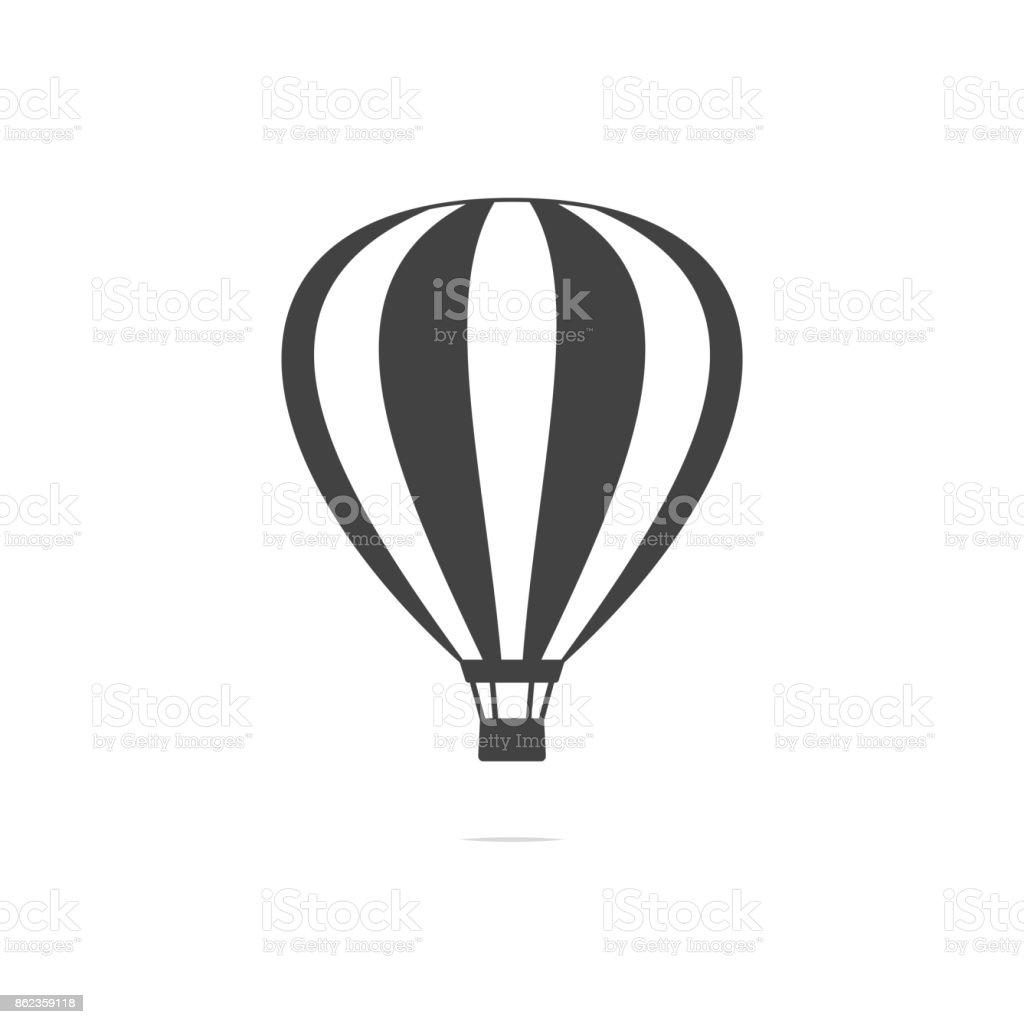 Hot air balloon icon vector transparent vector art illustration
