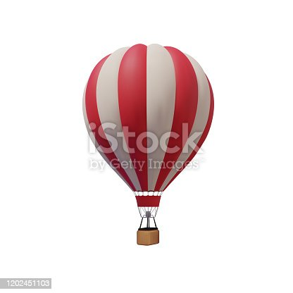 Hot air balloon isolated on a white background. Vector