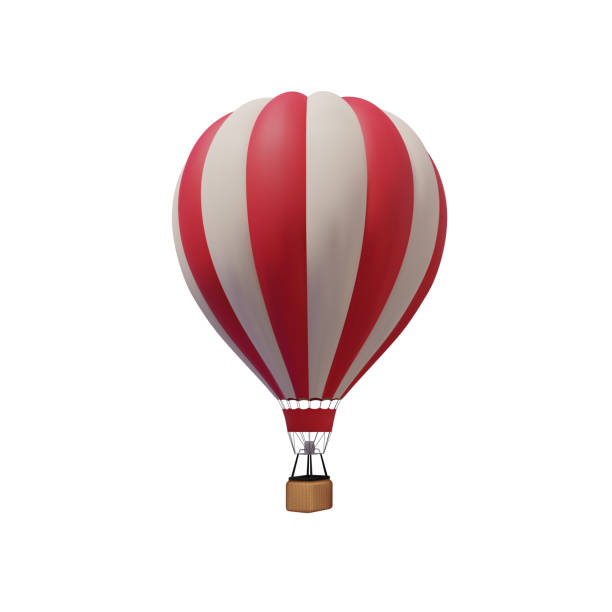 Hot air balloon isolated on a white background. Vector. Hot air balloon isolated on a white background. Vector hot air balloon stock illustrations