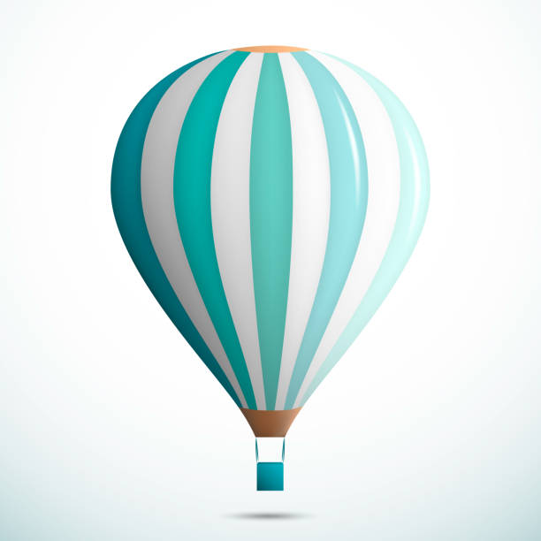 Hot air balloon isolated on white background. Vector Illustration Hot air balloon isolated on white background. hot air balloon stock illustrations