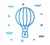 istock Hot Air Balloon Line Style Icon Design 1155514984