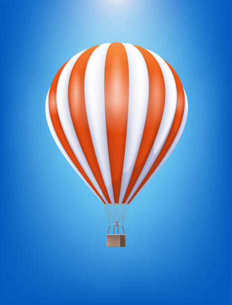 hot air balloon - hot air balloon stock illustrations