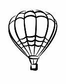 Symbol of Hot Air Balloon.