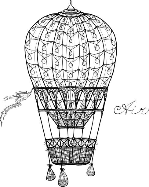 balonem - hot air balloon stock illustrations