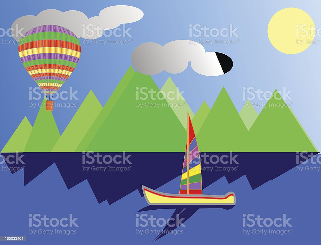 Hot air balloon royalty-free stock vector art