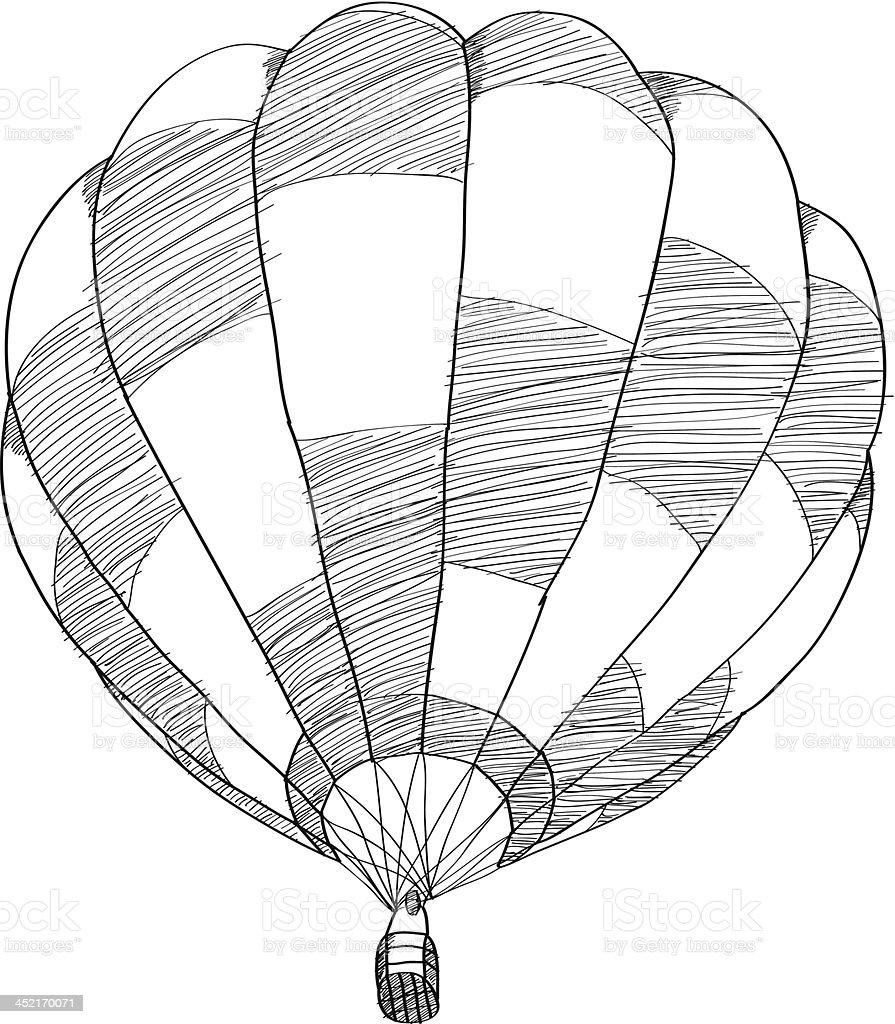 Hot Air Balloon Vector stock vector art 452170071 | iStock